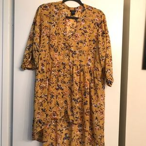 Torrid Yellow Floral Lexie High Low Tunic size 2X